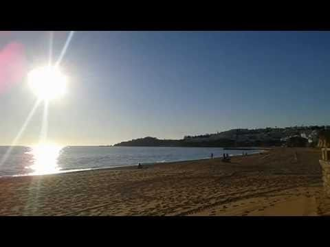 Albufeira Beach Winter Sun - YouTube
