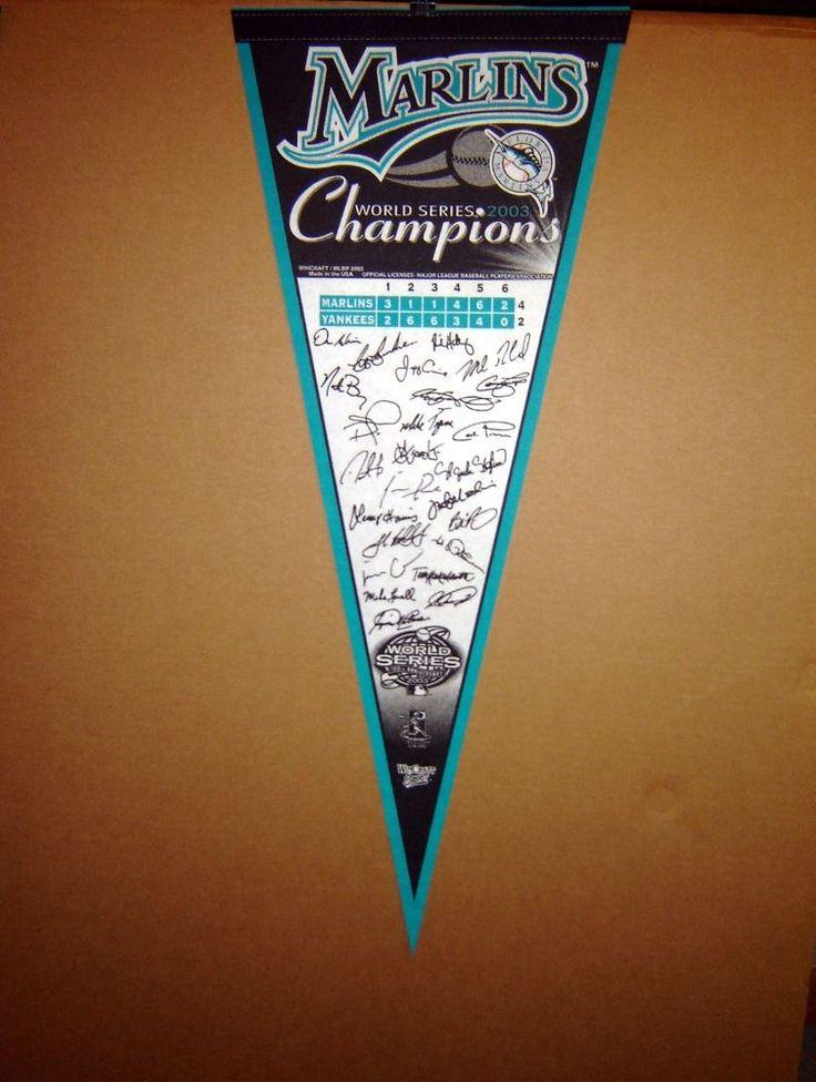 2003 Florida Marlins World Series Champions MLB Baseball Pennant #PennantsFlags