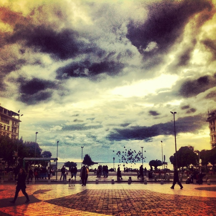 Clouds, Aristotelous Square ,Thessaloniki, Greece