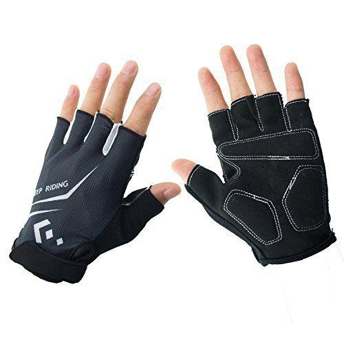 Hicool Gants de fitness- conditionnement physique et de formation des gants demi gants doigt cyclisme gants pour hommes et femmes – gants…