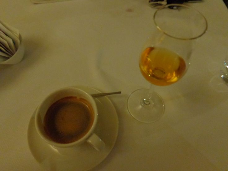 Coffee & grappa @ Restaurace Bellevue