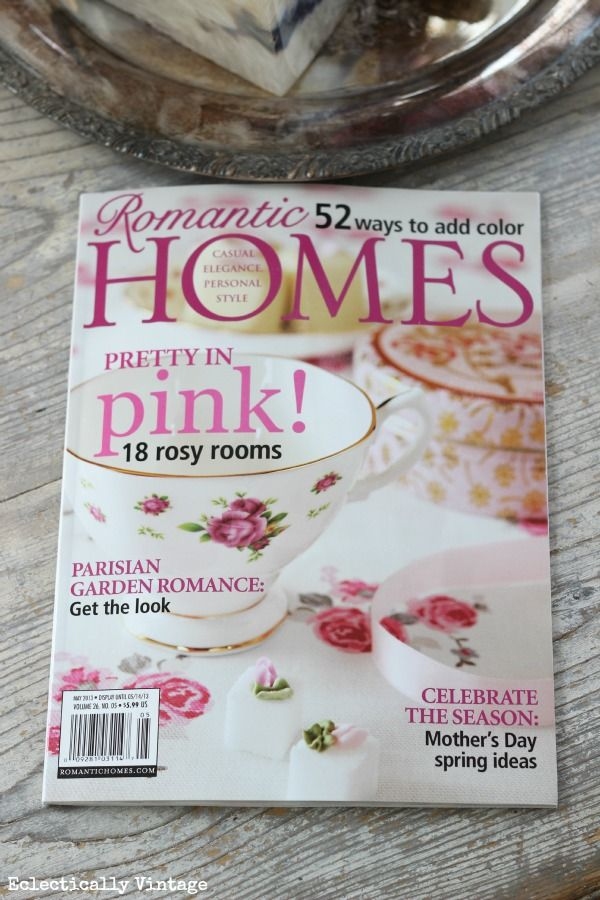 Romantic Homes Magazine - Eclectically Vintage featured as a blog to follow