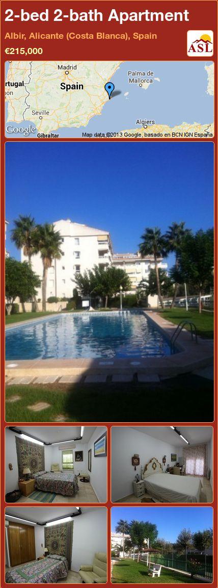 2-bed 2-bath Apartment in Albir, Alicante (Costa Blanca), Spain ►€215,000 #PropertyForSaleInSpain