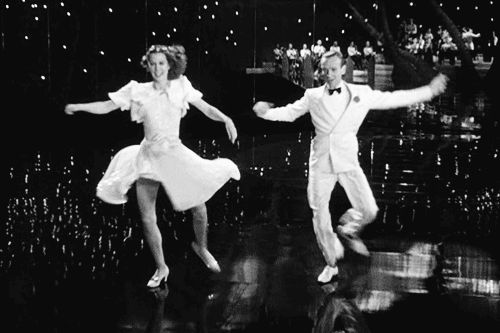 "Eleanor Powell and Fred Astaire in Broadway Melody of 1940  (Norman Taurog, 1940)  Astaire remarked later, ""She 'put 'em down like a man', no ricky-ticky-sissy stuff with Ellie. She really knocked out a tap dance in a class by herself."""