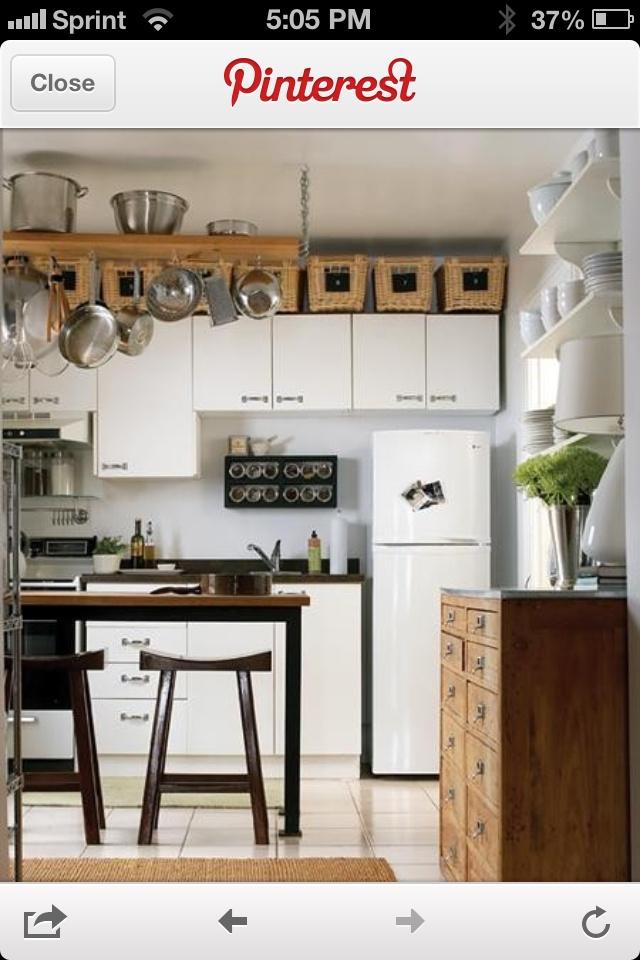 Above the kitchen cabinets kitchen ideas pinterest for Extra kitchen storage