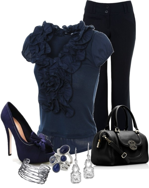 """Navy Blue :)"" by tanisha500 ❤ liked on Polyvore"