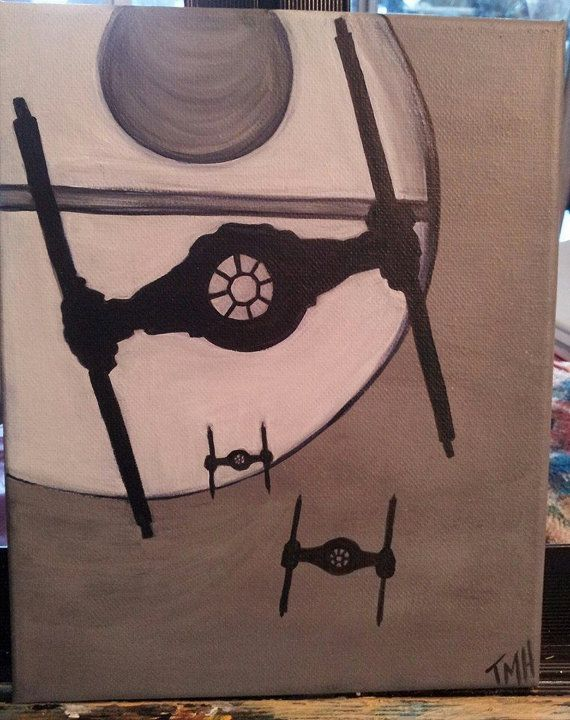 Acrylic Painting Entitled Star Wars by AlchemistsArtisans on Etsy