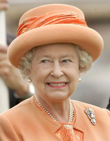 Pearl Triangle Brooch.   Queen Elizabeth, 2007