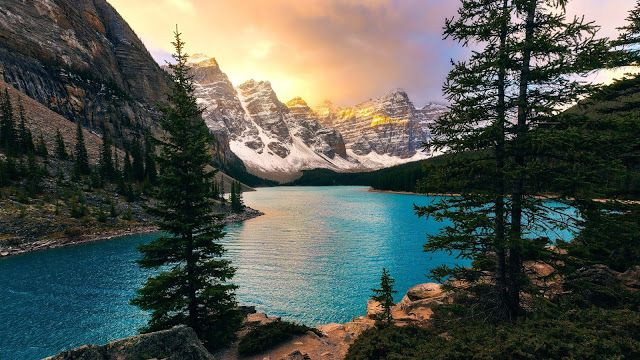 Hd Wallpapers Desktop Mobiles Moraine Lake Banff National Park Wallpaper Banff National Park Canada Lake Landscape Parks Canada
