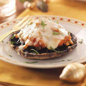Portobello Pizzas Recipe (easily adapted for Dukan)