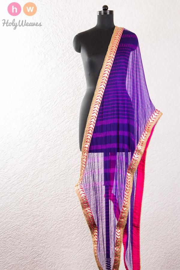 #Purple #Georgette #Bandhani #Dupatta #HolyWeaves