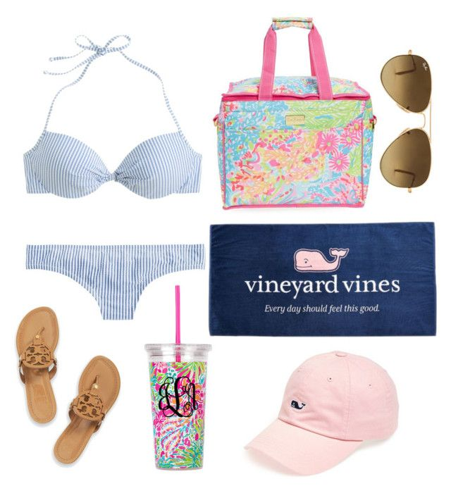 """""""sunshine overtime ☀️"""" by preppy-lilly-girl ❤ liked on Polyvore featuring Vineyard Vines, J.Crew, Tory Burch, Ray-Ban, Lilly Pulitzer, men's fashion and menswear"""
