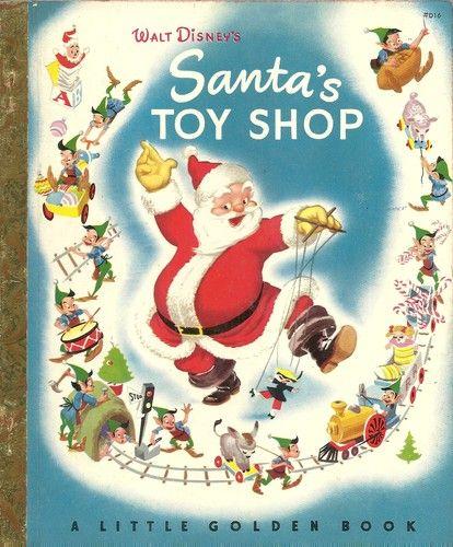 "Vintage 1950's Children's Little Golden Book Santa's Toy Shop ""A"" Edition | eBay"