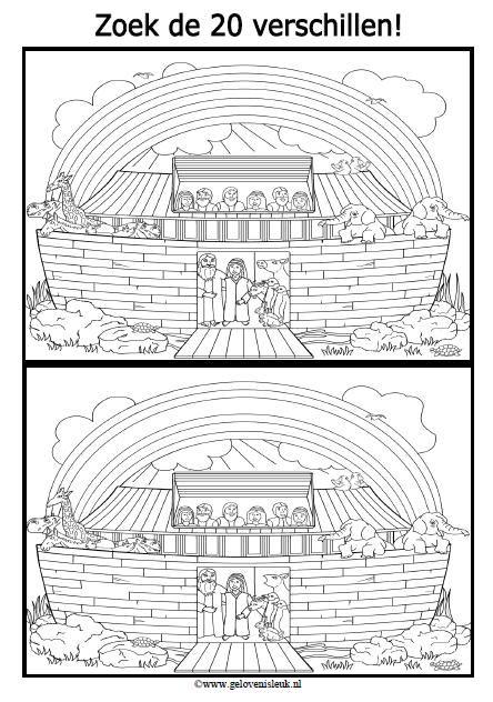 Genesis 6: Noach - Zoek de verschillen