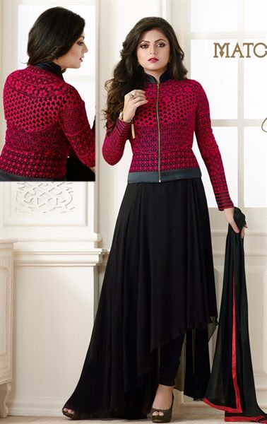 Picture of Mystical Black Party Wear Salwar Kameez