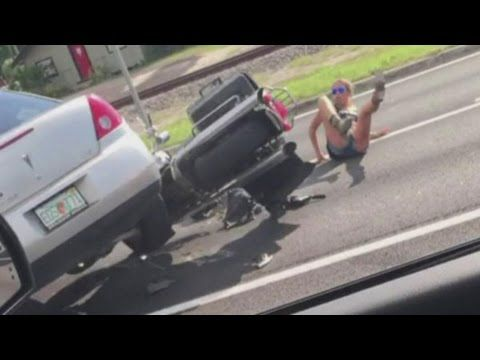 Car Runs Over Couple On Motorcycle In Florida Road Rage Incident