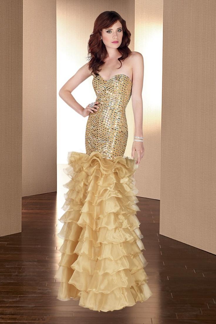 gold mermaid gown