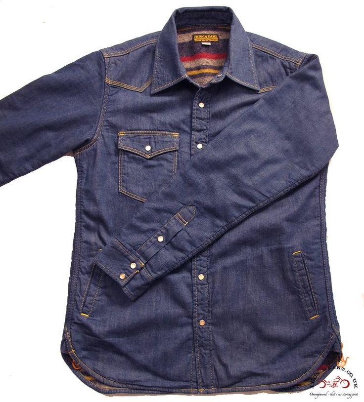 IHSH-49  Blanket Lined 8oz Indigo Denim Shirt  I love this Shirt