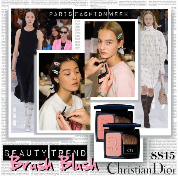 PFW SS15 Beauty Trend Brush Blush