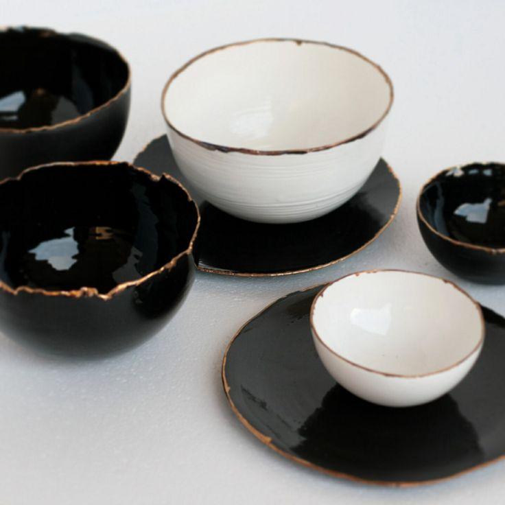 Ceramic bowls. By Diamantina & La Perla. www.facebook.com/diamantinaylaperla