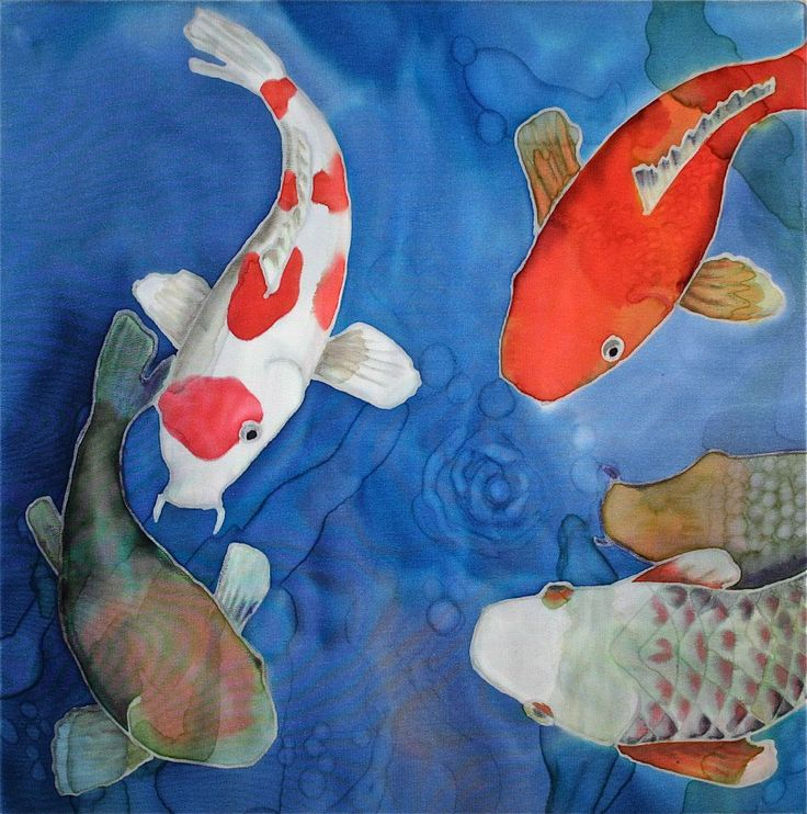 17 best images about silk painting on pinterest acrylics for Little koi fish