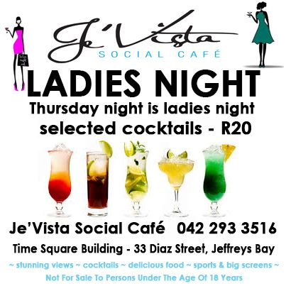 Thursday night is ladies night! Not for sale to persons under the age of 18