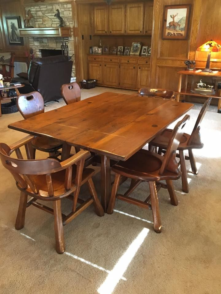 Beautiful Pre Owned,vintage W.R.Dallas Drop   Leaf Table Is For Sale ~
