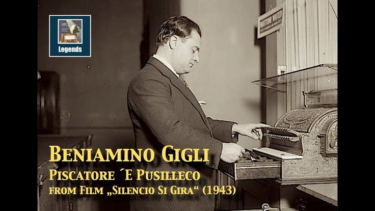 """Beniamino Gigli Comedy Scene """"Piscatore 'e Pusilleco"""" (1943)"""