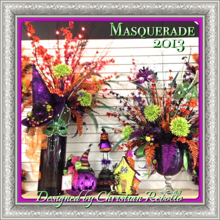 masquerade vignette halloween collection 2013 designed by christian rebollo - Christian Halloween Decorations