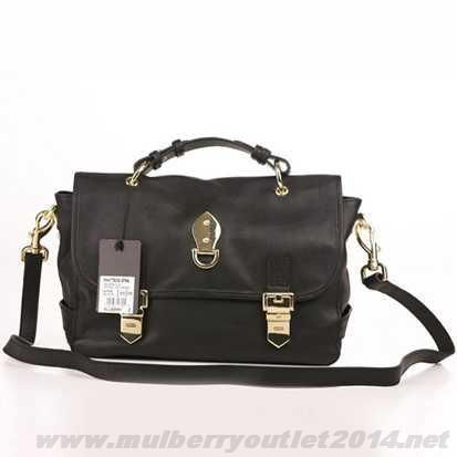 Cheap Womens Mulberry Tillie Leather Shoulder Bag Black Factory Outlet