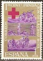 España 1963 Edifil 1534 Sello ** Centenario Cruz Roja Intern | SusofeStamps.es