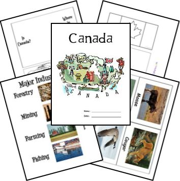 FREE Canada Lapbook