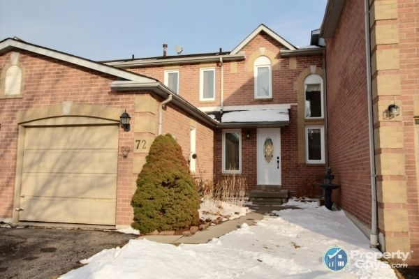 Welcome to 72 Woodstone Place in Whitby, ON.  Bright and beautiful 2 storey, all brick, 3 bedroom, freehold townhome in convenient central Whitby location. Very affordable for first time buyers or investors. Many upgrades completed and move-in ready! Fully fenced backyard with large deck (new) and shed. Close to all amenites (near downtown) and easy access to public transportation, major highways, and the Go Station for commuters.  This lovely home boasts a large open living & dining room...