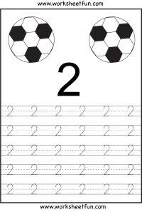 Number Tracing – 1 to 10 - Free Printable Worksheets - Worksheetfun