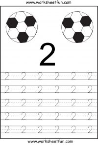 Number Tracing – 1 to 10 - Free Printable Worksheets - Worksheetfun