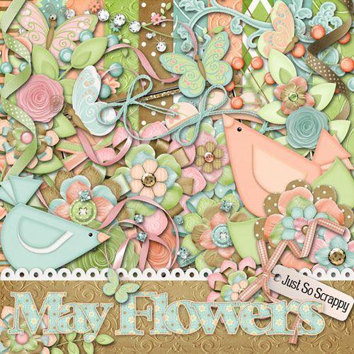 Скрап-набор - Майские цветы