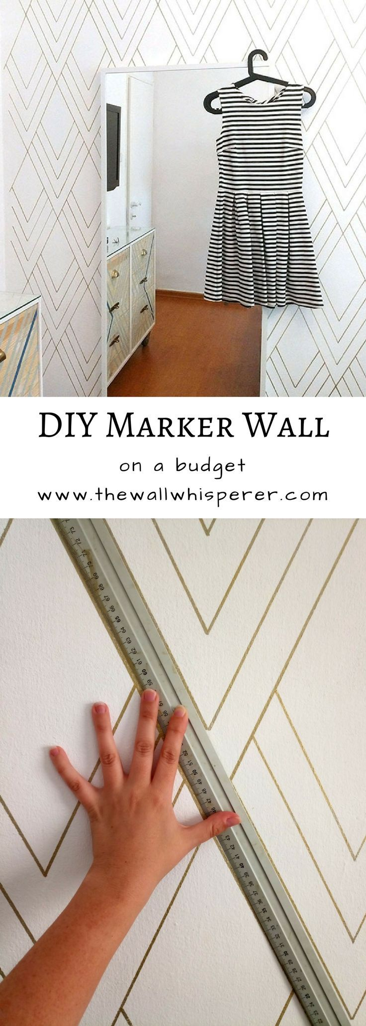 DIY accent wall, sharpie wall. On a budget cheap affordable room makeover.