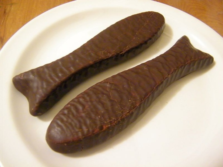 The classic Chocolate fish.  I love them straight from the freezer