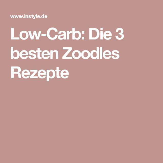 Low-Carb: Die 3 besten Zoodles Rezepte