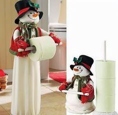 Muñeco de nieve para el baño y cocina de la casa