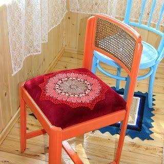 uncinetto moda e fantasia:  sedia ricamata