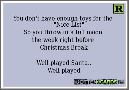 Full Moon and Christmas
