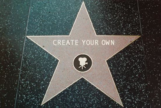 Love the FREE CUSTOMIZED printable Hollywood walk of fame star. Put each girls name on one.