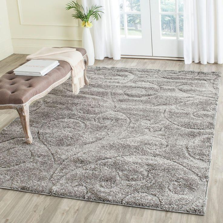 florida shag gray 5 ft 3 in x 7 ft 6 in area rug