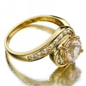 Cincin Wanita Ring 6 Champagne Topaz CZ