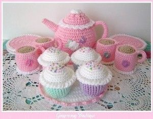 Free+Crochet+Patterns+Baby+Shower   PDF Crochet Pattern - Tea Set