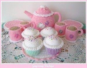 Free+Crochet+Patterns+Baby+Shower | PDF Crochet Pattern - Tea Set