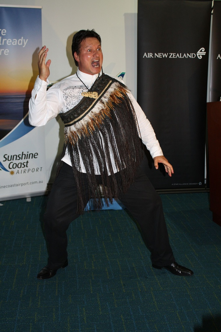 Air New Zealander Andrew Baker at the Maroochydore (Sunshine Coast) service launch