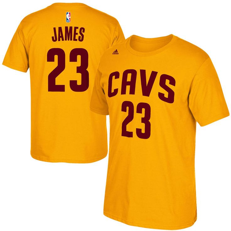 LeBron James Cleveland Cavaliers adidas Net Number T-Shirt – Gold