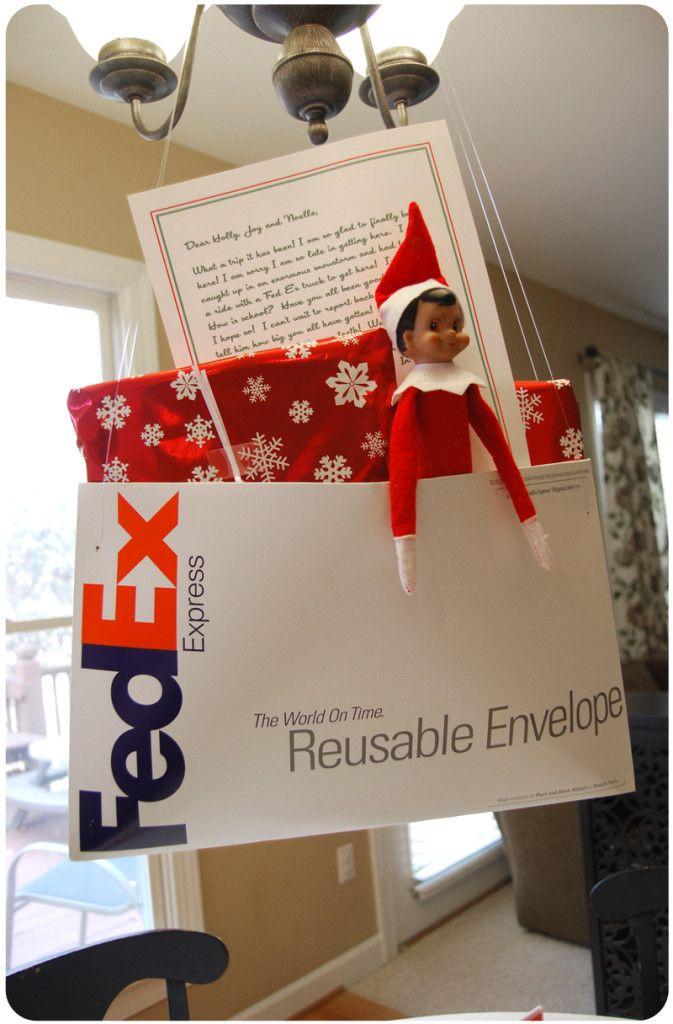 Special delivery | 25+ elf on the shelf ideas | NoBiggie.net